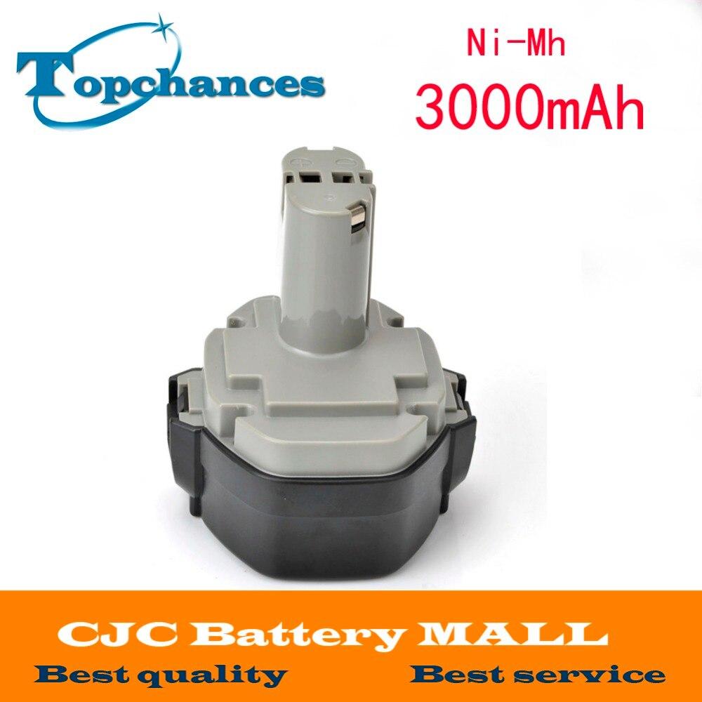 14.4 V 3000 MAH Ni-Mh Batterie pour MAKITA 1434 1435 192699-A 8280D 8433D JR140D Nouveau