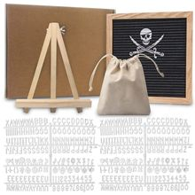 Felt Letter Board 10x10 Inch Solid Oak Wood Material With 340 White Letters Numbers Bag And Wood Easel  Letter Board стоимость