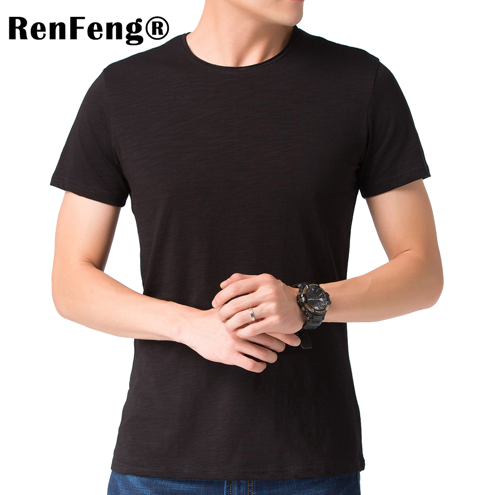 Brand 2018 Hot Sale New Men Clothing T shirt Summer Short Sleeve Curled V-neck Casual Slim Tops Tees Under shirt Free Shipping (3)