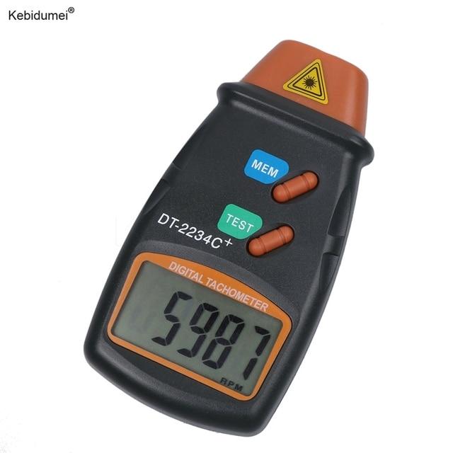 Kebidumei חדש כף יד ללא מגע לייזר תמונה טכומטר באיכות גבוהה דיגיטלי RPM Tach לייזר Tachometer מהירות מד