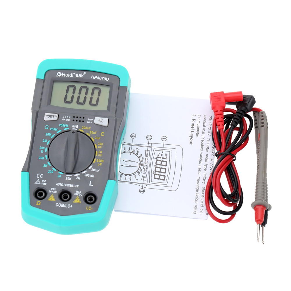 Digital Test Meters : Hp d mini digital multimeter resistance meter
