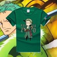 Un pezzo nuovo progettato concetto carattere cotone t shirt One piece Zoro t shirt di colore verde multi colori ac514