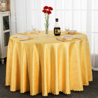 Round tablecloth European hotel restaurant tablecloth quality dust tablecloth wedding party restaurant home decor tablecloths