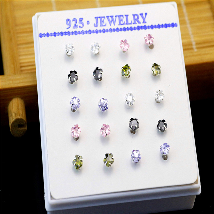 20Pcs S925 Sterling Silver 4MM Nose Studs, Latest Fashion Designs ...