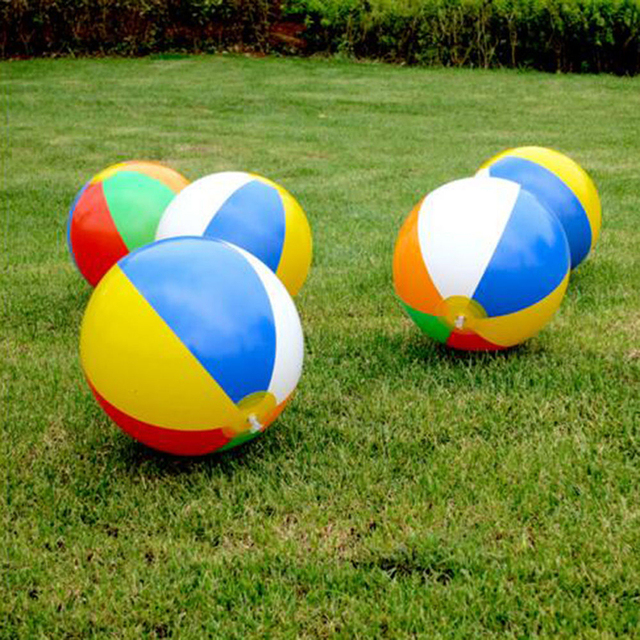 New Baby Kids Beach Pool Play Ball Inflatable Children Rubber Educational Soft Toys Learning
