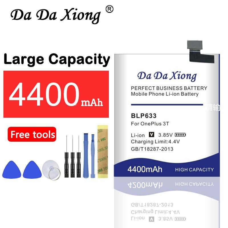 Da Da Xiong 4400mAh Bateria para OnePlus BLP633 3T A3010 1 + 3T Telefone OnePlus 3