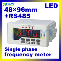 LED digital Frequency hz meter 48mm*96mm single phase digital frequency meters with RS485 communication