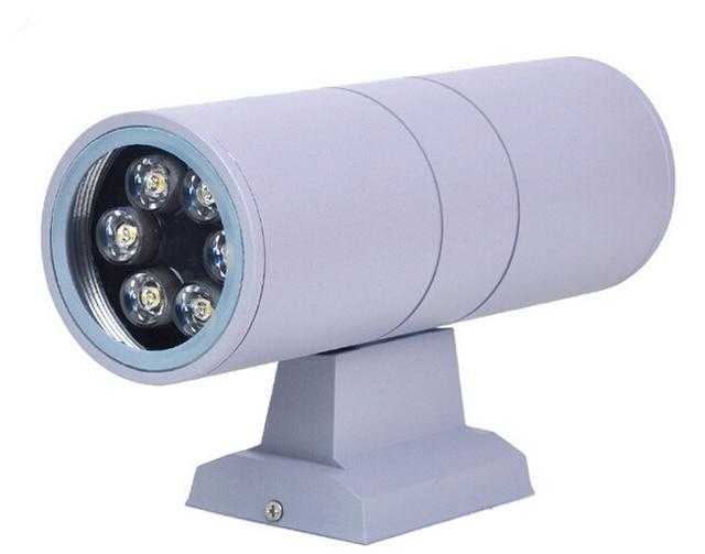 Illuminazione Esterna A Parete Led : Illuminazione esterna w w doppia testa su e giù led lampade