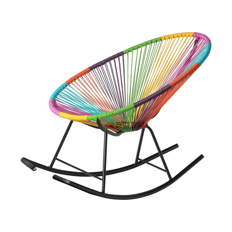 Beach Chairs Outdoor Furniture outdoor colorful iron+PE beach chair rocking chair maximum load bearing 150 kg wholesale hot new-in Beach Chairs from ...  sc 1 st  AliExpress.com & Beach Chairs Outdoor Furniture outdoor colorful iron+PE beach chair ...