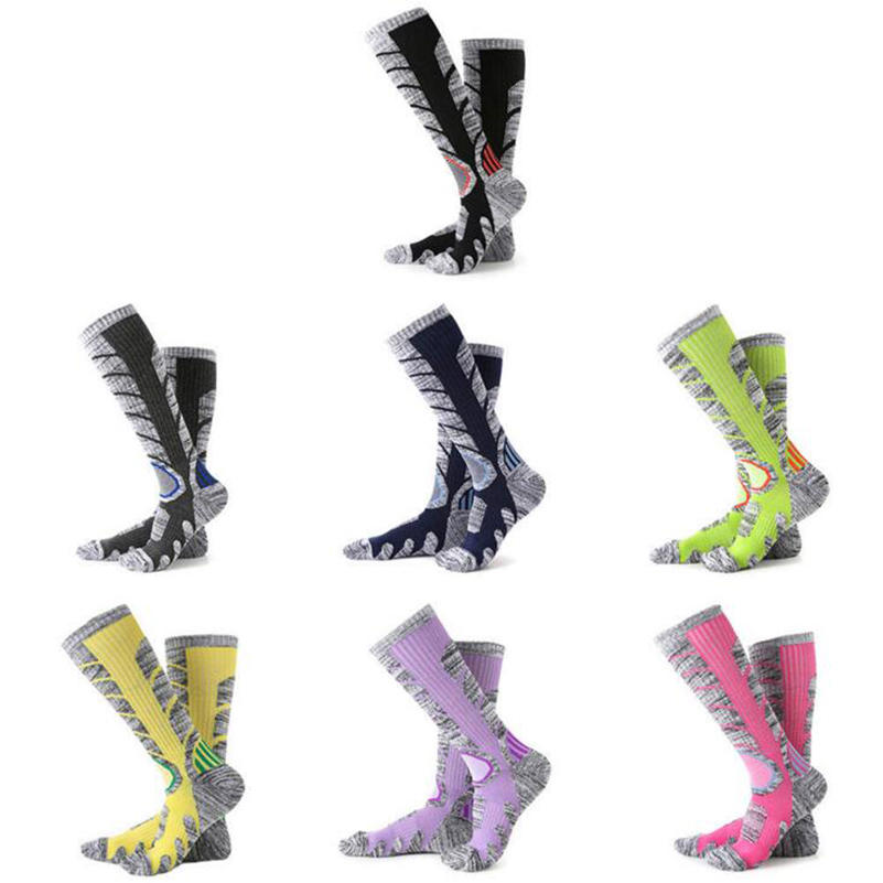 2017 Winter Warm Men Women Thermal Ski Socks Thick Cotton Sports Snowboard Cycling Skiing Soccer Socks Leg Warmers Long Socks