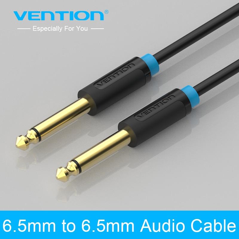 Vention 6.5mm Jack to Jack Audio Cable Gold-Plated 0.5m 1m 2m 3m 5m 8m 10m Aux Cable for Guitar Mixer Amplifier Aux Cabo