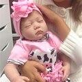 "[SGDOLL] Kawaii 55cm/22"" Lifelike Sleeping Newborn Infant Reborn Dolls Silicone Vinyl Handmade Pink Baby Xmas Toy Gift 15103130"