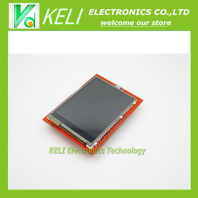 Free Shipping 1pcs UNO 2.4 inch TFT touch LCD Screen Module For Ardui UNO R3