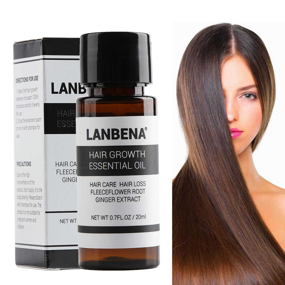 LANBENA Hair Growth Essence Hair Loss Liquid Dense Fast Grow Hair Natural Pure Original Essential Oils Grow Restoration Products