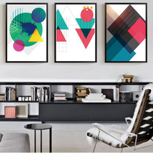 Creative Abstract Geometry Pattern Nordic Posters Canvas Painting Print Living Room Home Decoration Modern Wall Art Oil