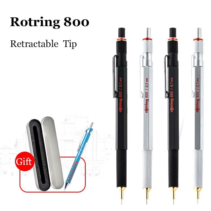 Allemagne Rotring 800 crayons mécaniques 0.5mm 0.7mm stylo en métal professionnel crayons automatiques pour la conception croquis papeterie