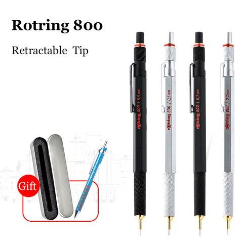 alemanha rotring 800 lapis mecanicos 0 5mm 0 7mm profissional caneta de metal lapis automaticos
