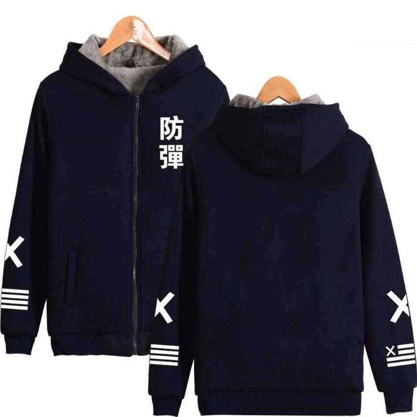 Winter BTS KPOP Womens Jackets and Coats Bangtan Boys Album v suga jimin Warm Thicken Zipper Sweatshirt Hoodies k-pop clothes