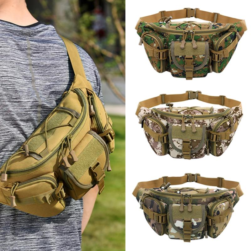 2018 New Outdoor Tactical Molle Bag Waterproof Waist Pack Fanny Hiking Fishing Hunting Sports Waist Bags Camping Sport Belt Bag 1000d nylon molle tactical hunting bags outdoor sport single shoulder bag men outdoor sport camping hiking hunting waist bags