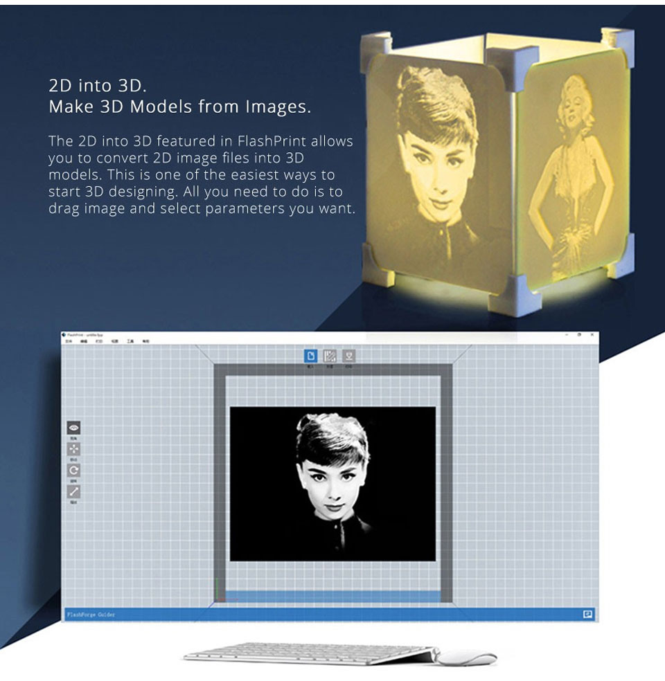 HTB1lBmSaTnI8KJjSszbq6z4KFXap FlashForge Creator Pro DIY 3D Printer