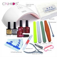KCE In 24W Professional UV LED Lamp 3 Color Top Coat Base Coat 10ml Nail