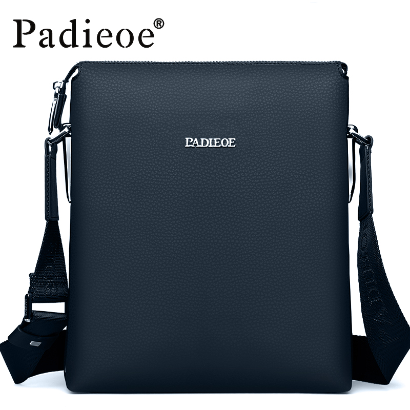 Padieoe High Quality Hot sale men's Shoulder Bag Genuine Leather Crossbody Sling Bags Durable Leisure Business Male Handbags