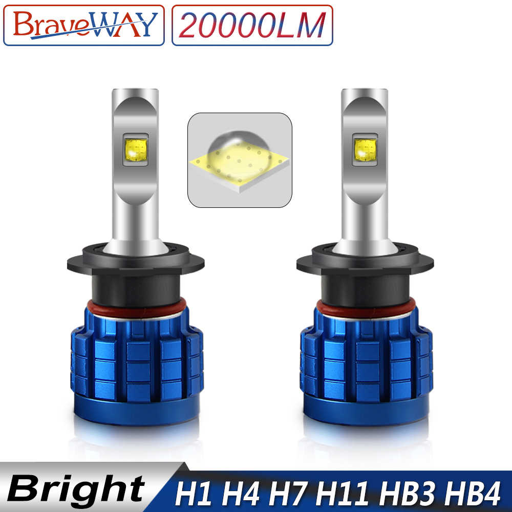 BraveWay LED Bulb for Auto H1 H4 H8 H9 H11 HB3 HB4 9005 9006 H7 LED Canbus H11 LED Lamps for Car Headlight Luces Automoveis 12V