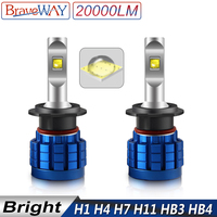 bulb 12v BraveWay LED Bulb for Auto H1 H4 H8 H9 H11 HB3 HB4 9005 9006 H7 LED Canbus H11 LED Lamps for Car Headlight Luces Automoveis 12V (1)