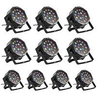 New Style 10PCS 18 X 3W LED DJ Par Lights 54W RGB PAR64 DMX512 For Stage
