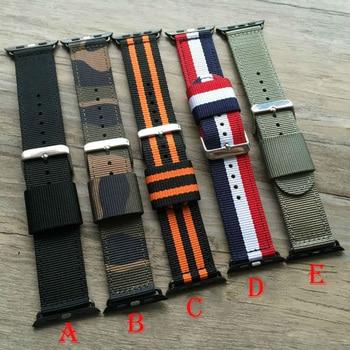 Kleur Geweven nylon band horlogeband voor apple watch band 38mm 42mm Armband Sport pols mannen/vrouwen horloge Accessoires