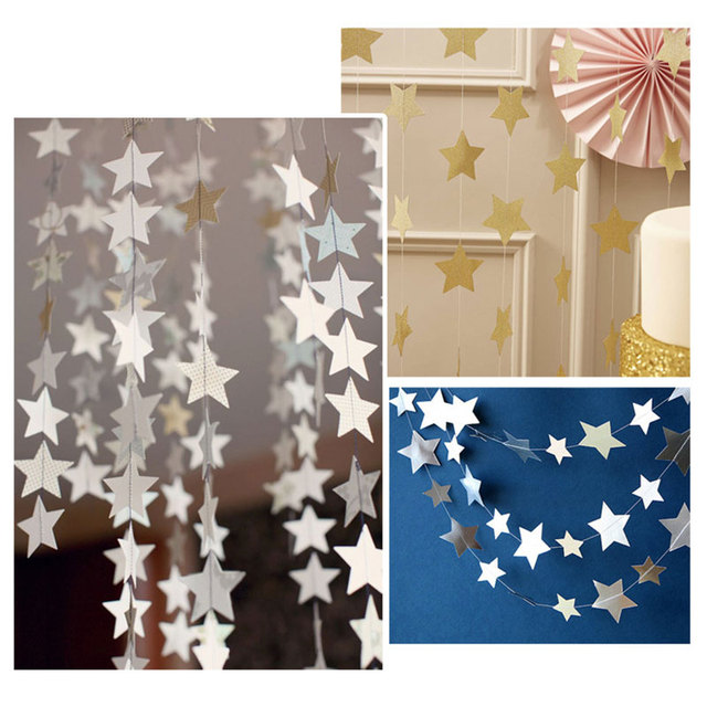 luz cartn estrellas adornos barnner feliz cumpleaos del partido kids party supplies hanging holiday decor