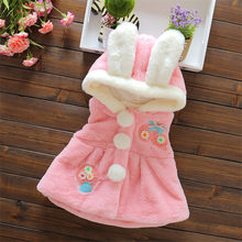 BibiCola baby grils Clothing Winter Outerwear Cartoon Hooded Jacket Girls Fashion Faux Fur vest Coat Warmer Thick Snow Parkas(China)