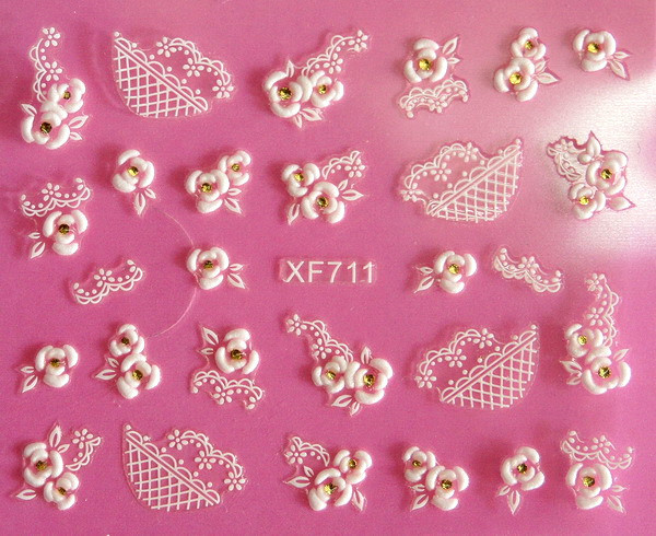 Direct continental carved 3D nail stickers nail sticker nail art stickers 3D nail stickers XF711 direct continental carved 3d nail stickers nail sticker nail art stickers 3d nail stickers xf711