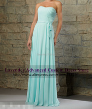 Romantic light blue long chiffon bridesmaid dress plus size custom mint green coral party dress vestido madrinha de casamento