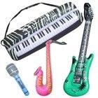 ★  Детские надувные симуляторы музыкальный инструмент гитара саксофон электронный орган форма игрушки д ★