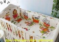 โปรโมชั่น! 6ชิ้นผ้าฝ้าย100%ชุดนอนสำหรับทารก,เปลทารกB Edingชุดรวม(กันชน+แผ่น+หมอนปก)