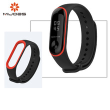Mijobs for xiaomi mi band three Silicone Alternative Strap Mi Band three Bracelet Miband three Wrist Straps band3 Display screen Protector Movie