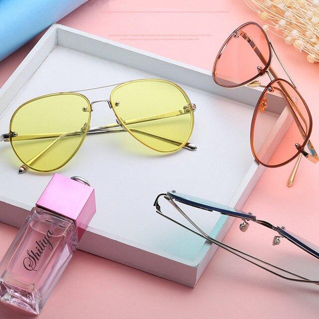 Sapo Óculos De Sol Do Vintage Rodada Óculos De Aviador Armação de Metal  Designer de óculos bebece47ae