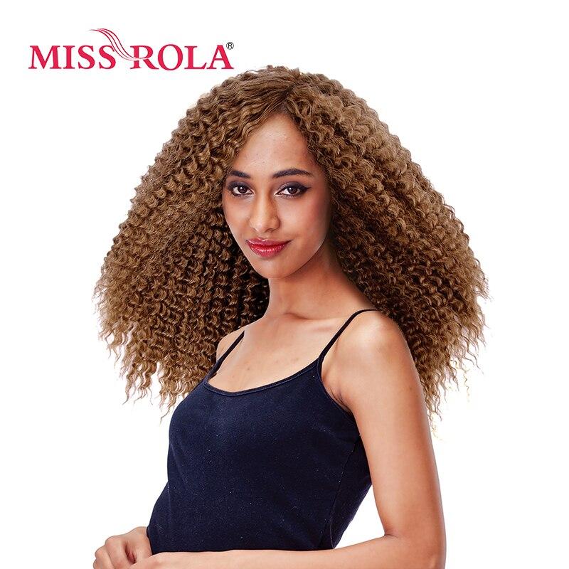 Мисс Рола длинные афро кудрявый парик Kanekalon синтетические парики для африканских Для женщин Прическа светлые Цвет 14 машина сделал парики ...