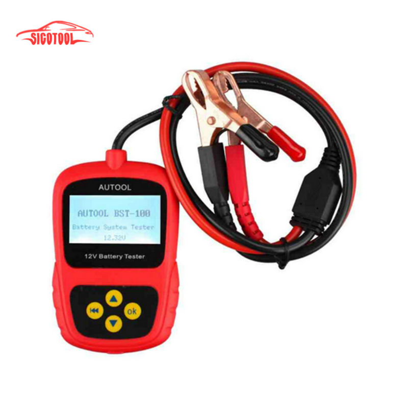 ФОТО Super Oringinal AUTOOL BST-100 BST100 Battery Tester with Portable Design Directly Detect Bad Cell Battery Free Shipping