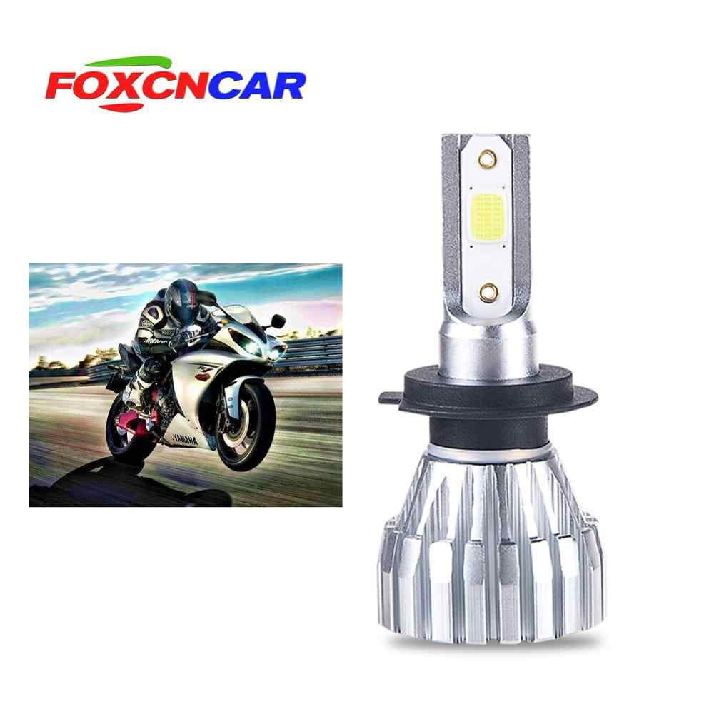 1Pcs Led Motorcycle Headlight Scooter Bulb H4 HS1 6500k Light ATV Moto Motorbike Accessories Fog Lamp For Suzuki For Honda etc