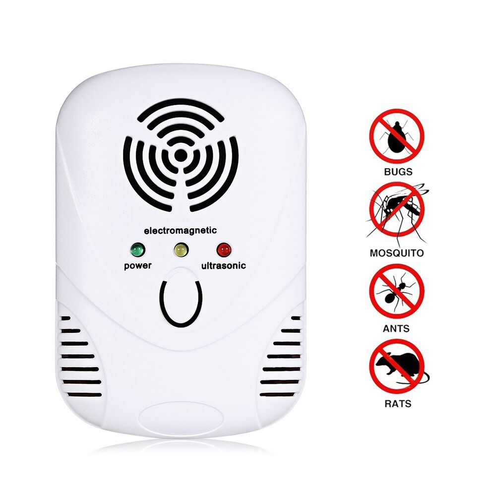 Electronic Ultrasonic Pest Repeller Multi Purpose Mosquito Killer Control 110 250v Mouse Cockroach Trap Insect Rats Spiders