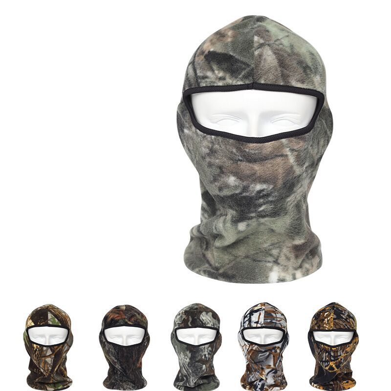 2017 Winter Warm Camo Thermal Fleece Balaclava Hunting Cycling Ski Masks Hoods Hats Bicycle Masks Motorcycle Full Face Mask от Aliexpress INT