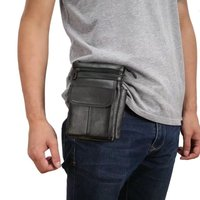 Cell Phone Case Genuine Leather Zipper Pouch Belt Clip Waist Purse Case Cover For AGM A7