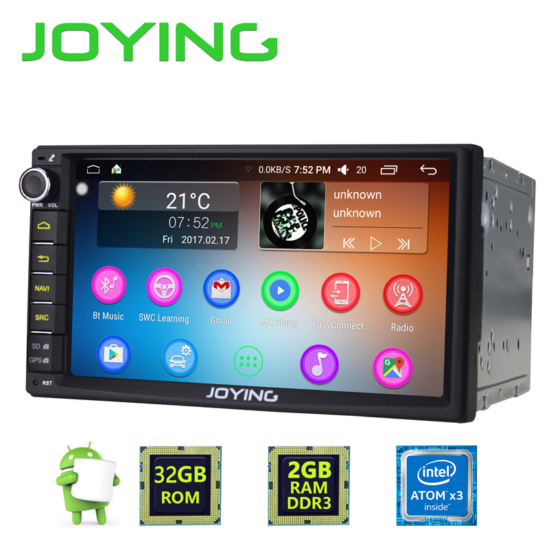 Newest JOYING 2GB RAM 32G ROM 2Din HD 7 Android 6.0 Universal Car Radio Audio Stereo GPS Navigation Media Player Tape recorder