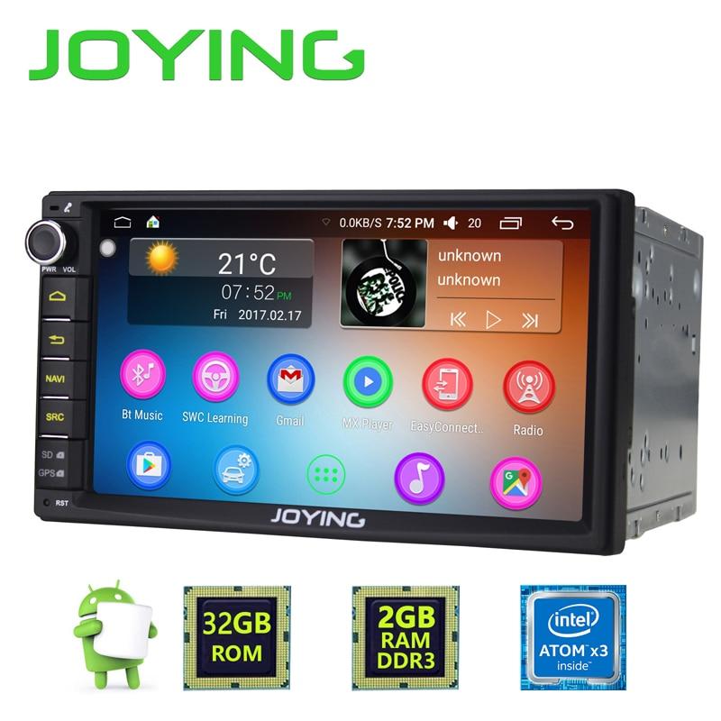 Newest JOYING 2GB RAM 32G ROM 2Din HD 7'' Android 6.0 Universal Car Radio Audio Stereo GPS Navigation Media Player Tape recorder gps навигатор lexand sa5 hd