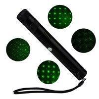 007 Гипсофила сверкающие звезды зеленый цвет 532nm-405nm луч точка лазерные указки Лазерные ручки с 3800 мАч 18650 Батарея