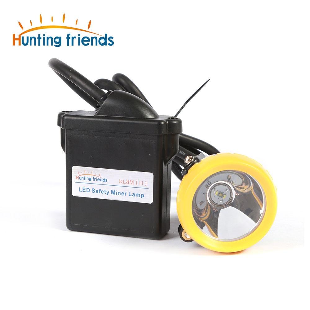 Amigos de caça 1 + 2 Minining LED Segurança Headamp KL8M (H) lâmpada de Tampão de Mineração À Prova de explosão À Prova D' Água luzes De Mineração para capacetes