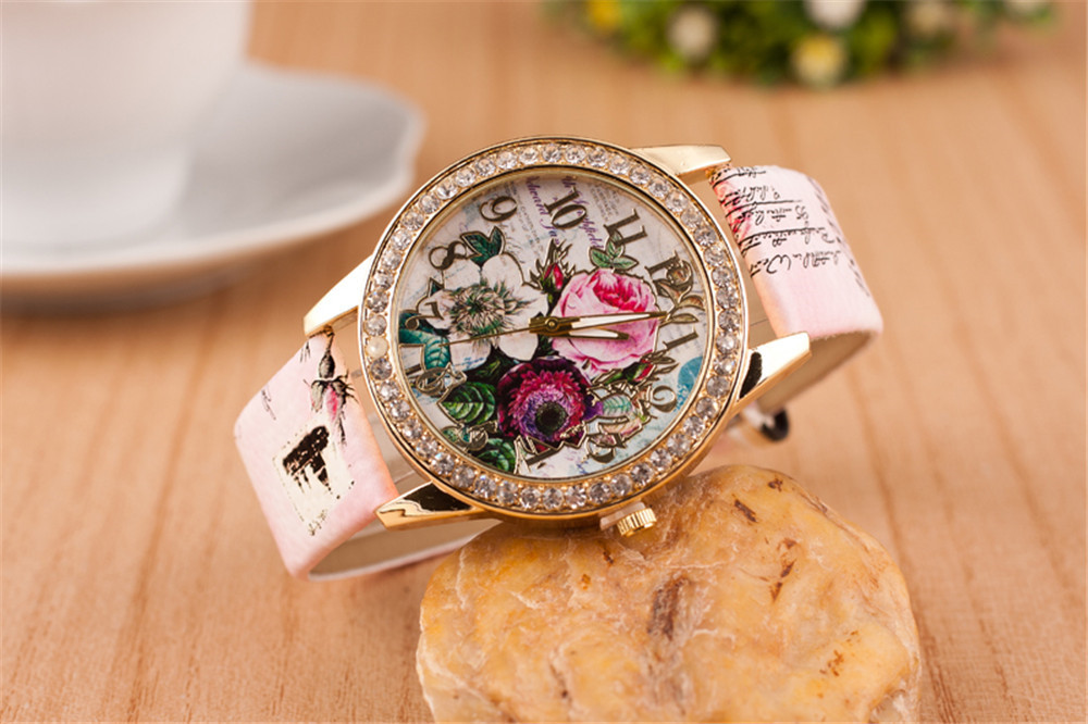 Femme Reloj Mujer Leather Stainless Women's Watch Wholesale Quartz Wrist Watches Women Hot Fast Shipping sk528 led 3 mode white light zoom flashlight 1 x aa 1 x 14500