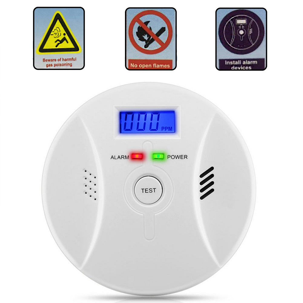 Newly 2 In 1 Combination Carbon Monoxide + Smoke Alarm Battery Operate CO & Smoke Detector DC128